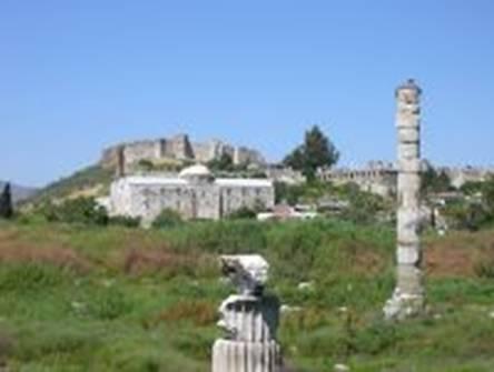 Ruínas do templo de Artemis em Éfeso, Turquia