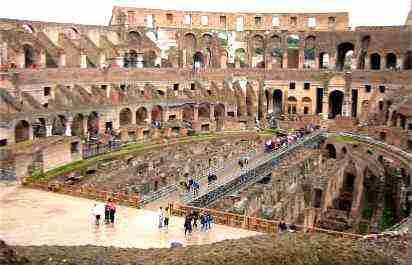 Anfiteatro Flávio - Coliseu de Roma - Coliseum - Interior